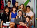 SAVED BY THE BELL, Top Row: Ed Alonzo, Mark-Paul Gosselaar, Elizabeth Berkley, Mario Lopez, Bottom R